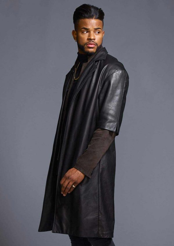 Superfly Leather Trench Coat