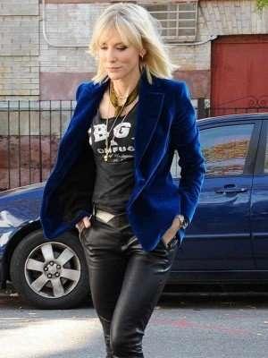 Ocean's 8 Blue Velvet Blazer Jacket