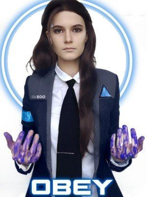 Video Game Detroit Become Human Kara Jacket