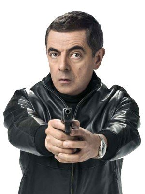 Rowan Atkinson Black Leather Jacket