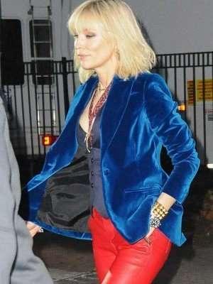 Cate Blanchett Ocean's Eight Blue Velvet Blazer