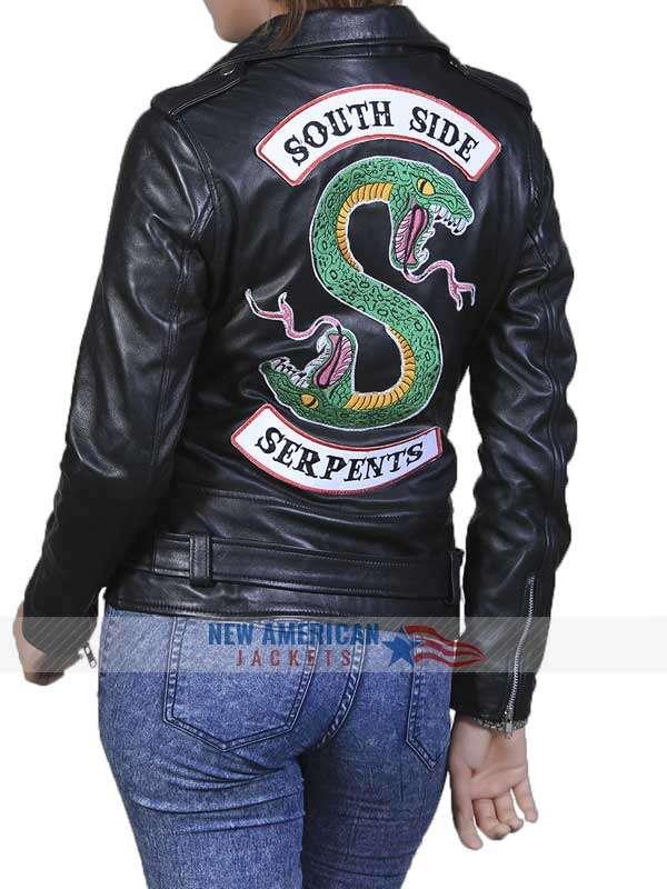 Southside Serpents Black Leather Jacket for Women