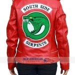 Southside Serpents Red Leather Jacket