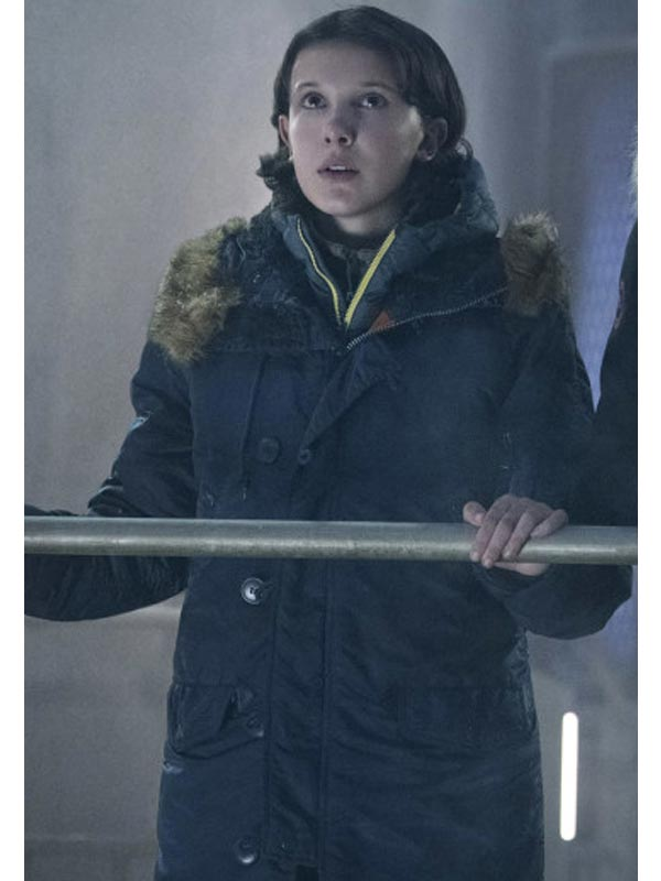 King of the Monsters Millie Bobby King Wool Coat