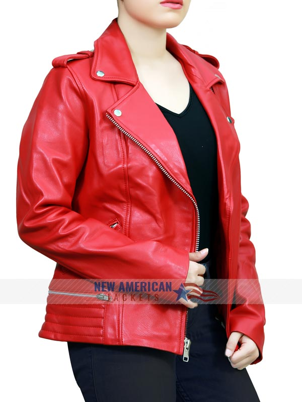 Riverdale Southside Serpents Red Leather Jacket