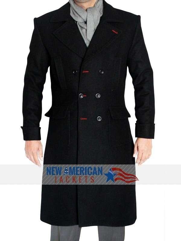 Sherlock Holmes wool trench coat