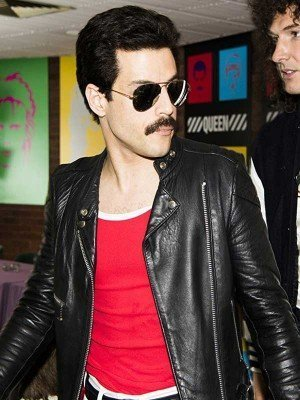 Bohemian Rhapsody Rami Malek Black Leather Jacket