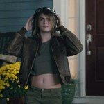 Cara Delevingne Paper Towns Brown Distressed Leather Jacket