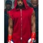 Creed II Michael B. Jordan Red Hooded Vest