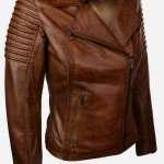 Ladies Brown Biker Jacket