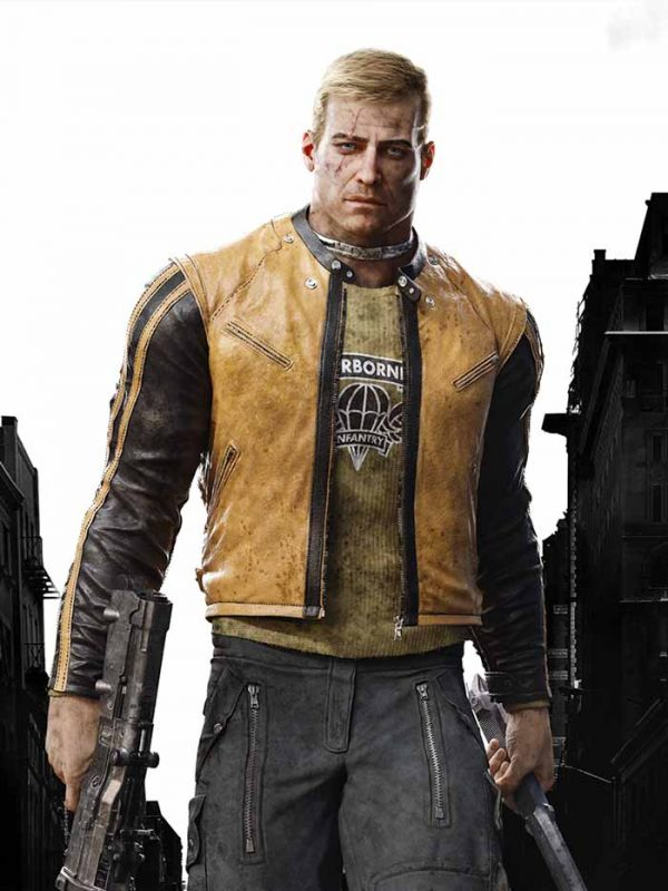 Game Wolfenstein BJ Blazkowicz Leather Jacket