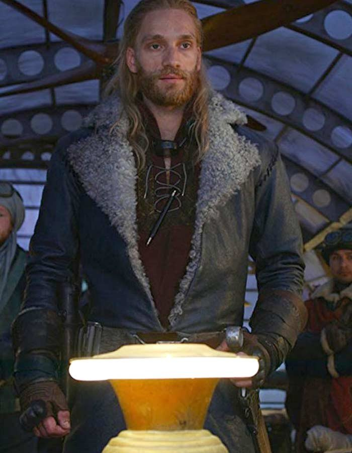 Mortal Engines Leifur Sigurdarson Leather Coat