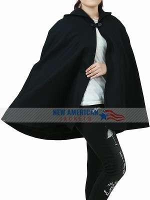 Veronica Lodge Black Hooded Cloak