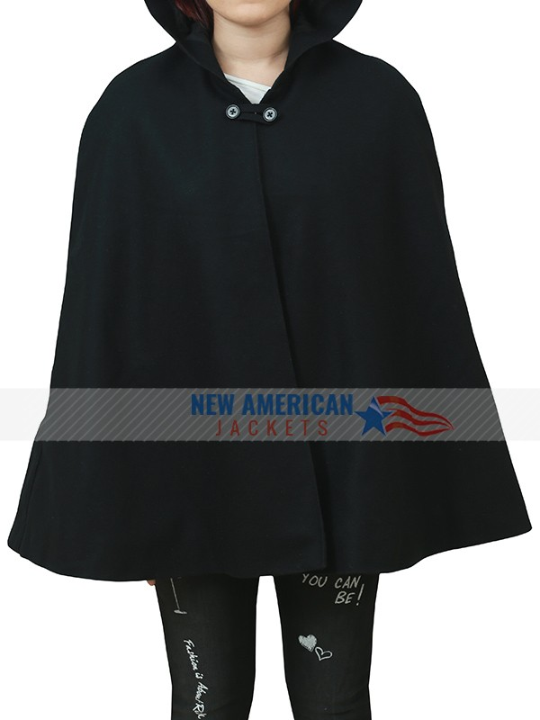 Veronica Lodge Black Hooded Cloak