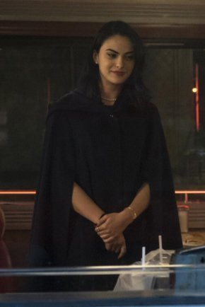 Veronica Lodge Black Wool Cloak