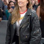 Black Leather Biker Ronda Rousey Jacket