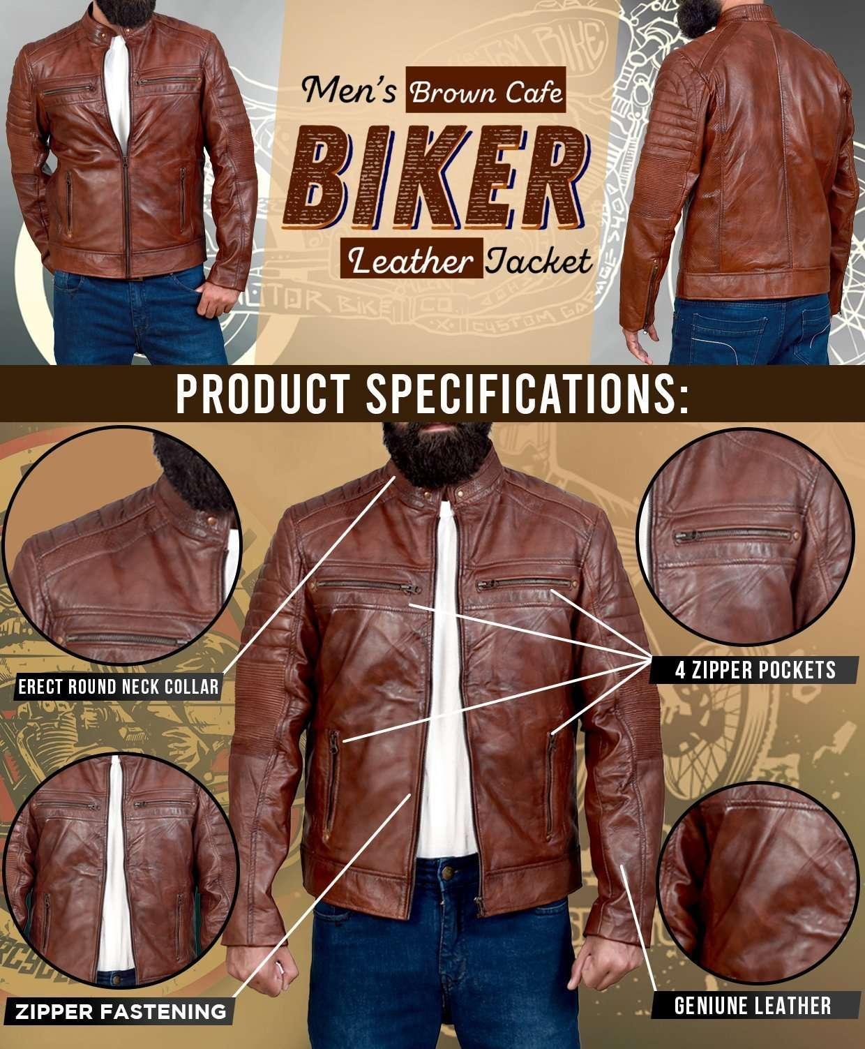 Vintage Cafe Racer Jacket for Men