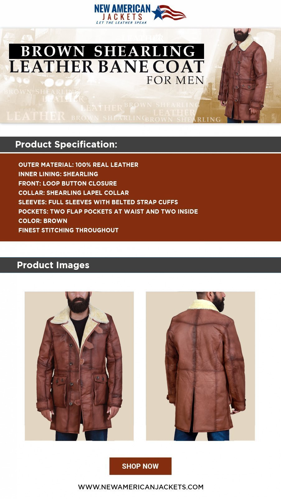 Shearling Leather Bane Coat