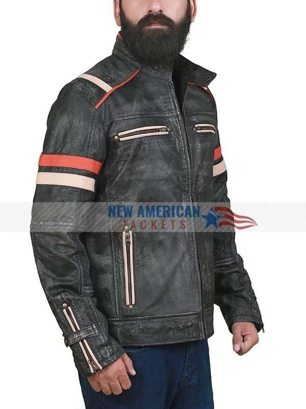 Men's Retro Café Racer Leather Jacket