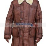 Ideal Shearling Brown Leather Coat for Men