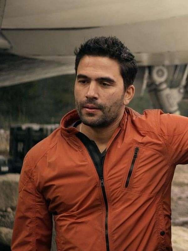 Ignacio Serricchi Lost In Space Orange Cotton Jacket