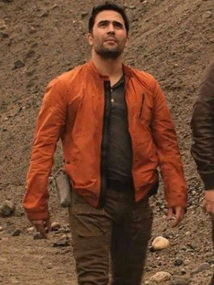 Lost in Space Ignacio Serricchio Orange Jacket