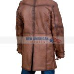 Mens Brown Leather Shearling Coat