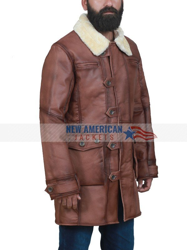 Mens Winter Shearling Coat
