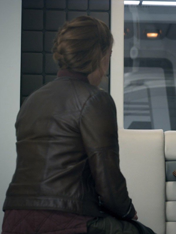 Molly Parker Lost In Space Brown Leather Jacket