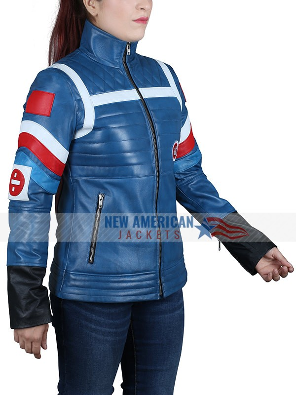 Party Poision Blue Leather Jacket