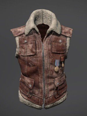 PUBG Suede Leather Vest