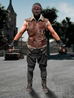 """PlayerUnknown's Battlegrounds Suede Shearling Leather Vest """