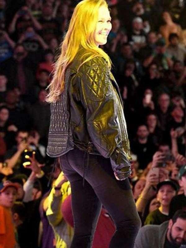 Royal Rumble Ronda Rousey Black Jacket