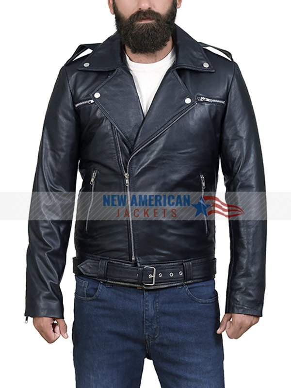 Mens Classic Leather Motorcycle Jacket New American Jackets