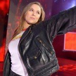 WWE Ronda Rousey Black Leather Biker Jacket