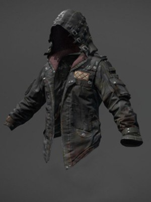 Player Unknown Black Hooded Leather Jacket