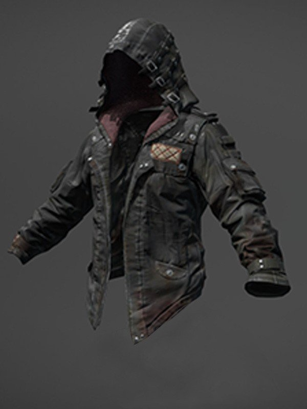 playersunknown battleground hooded black jacket