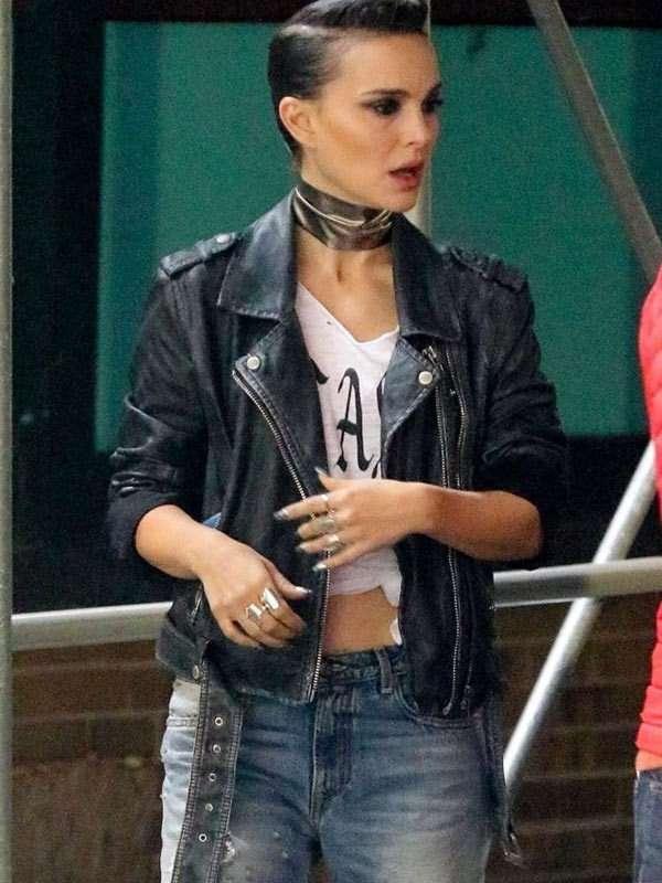 Celeste Montgomery Vox Lux Black Leather Jacket