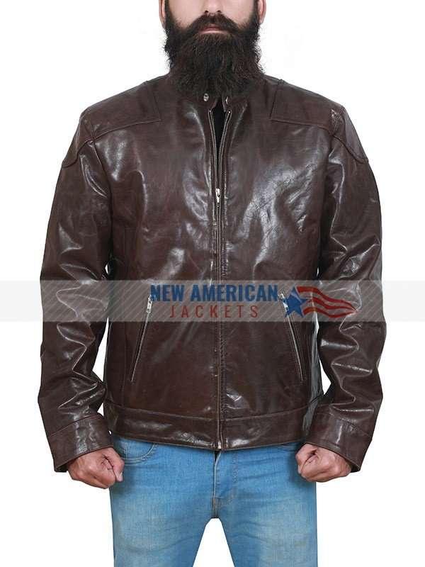 Eddie Brock Distressed Brown Leather Jacket