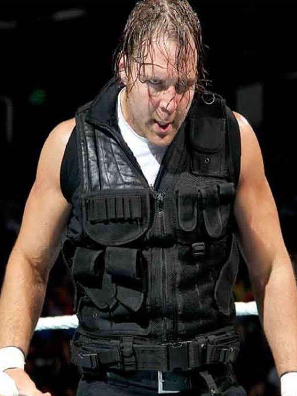 Lunatic Fringe Dean Ambrose Black Leather Vest