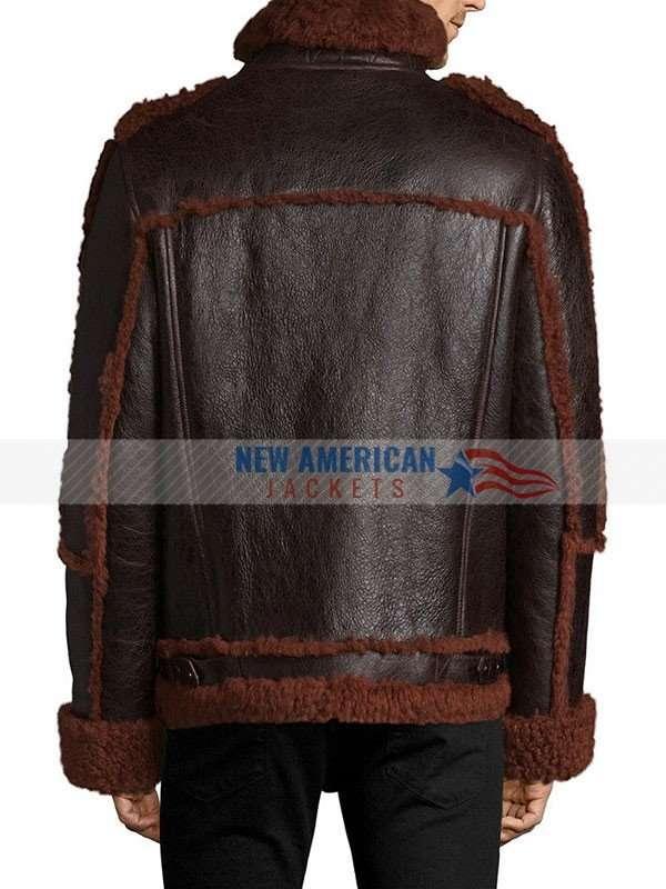 Mens Shearling Brown Jacket