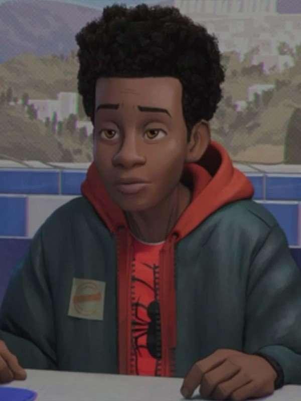 Miles morals Green Hooded Jacket