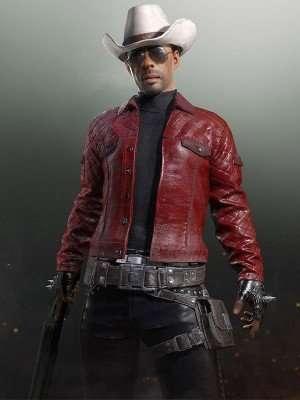PlayerUnknown's Battleground Red Quilted Leather Jacket