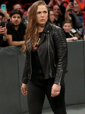 Ronda Rousey Quilted Leather Jacket