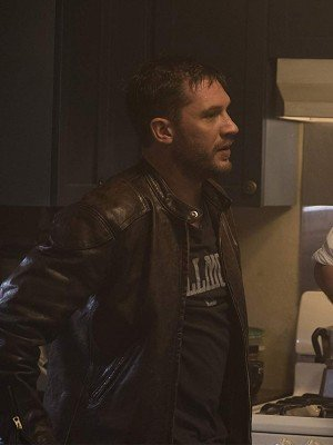 Venom Eddie Brock Distressed Brown Leather Jacket