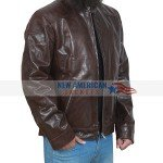 Venom Distressed Brown Leather Jacket