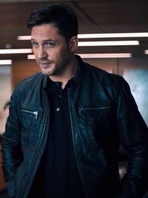Eddie Brock Venom Black Leather Jacket