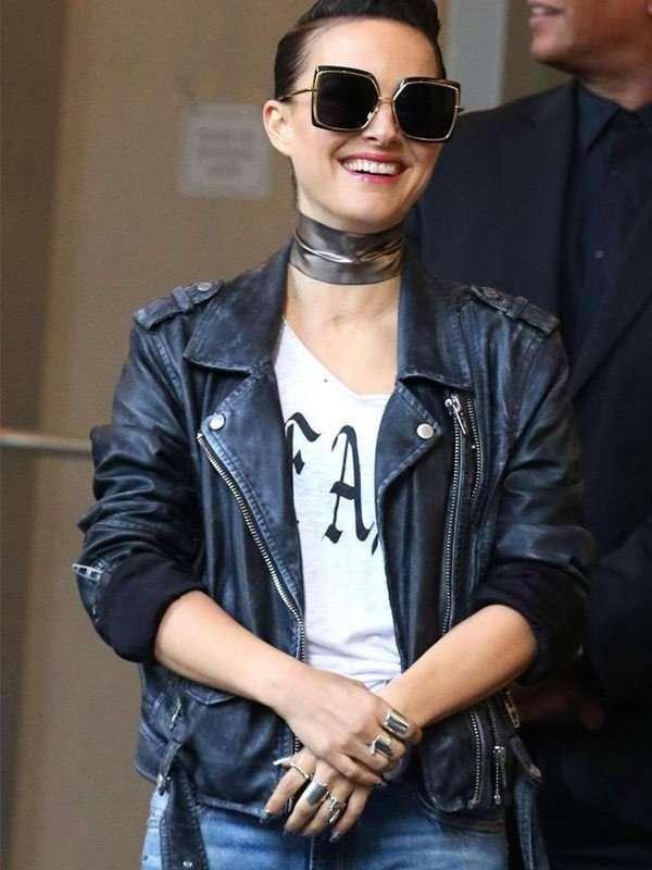 Vox Lux Natalie Portman Leather Jacket