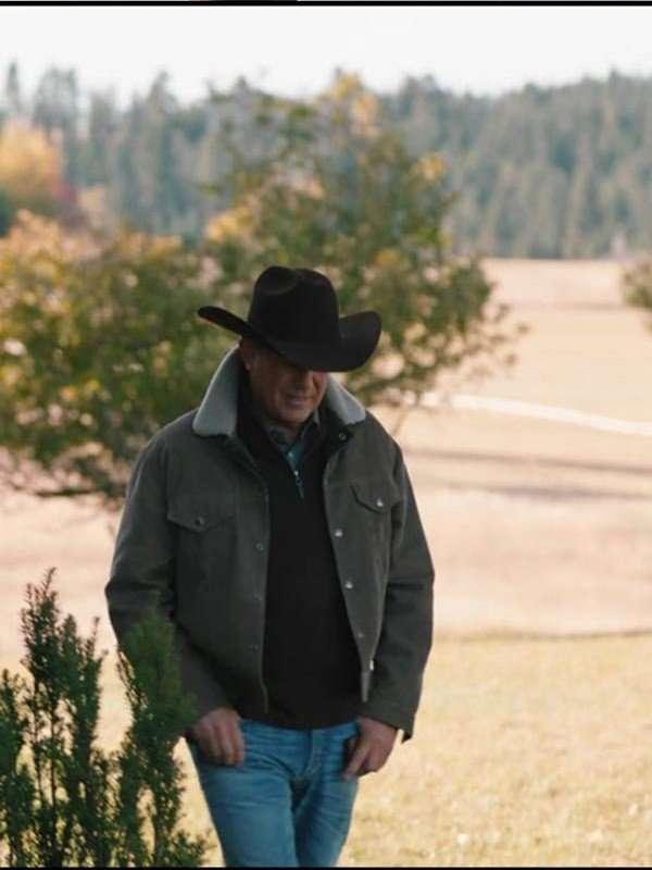 Yellowstone Kevin Costner Corduroy Jacket
