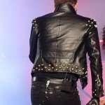 Adam Lambert Black Studded Leather Jacket